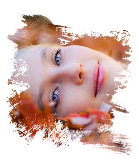Zdjęcie twarzy kobiety