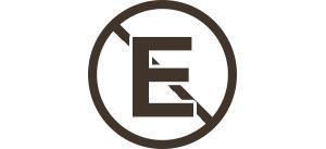 przekreślony znak E