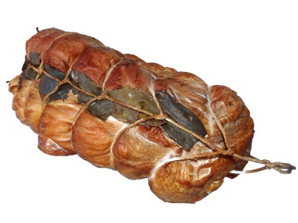 szynka wędzona z liściem laurowym